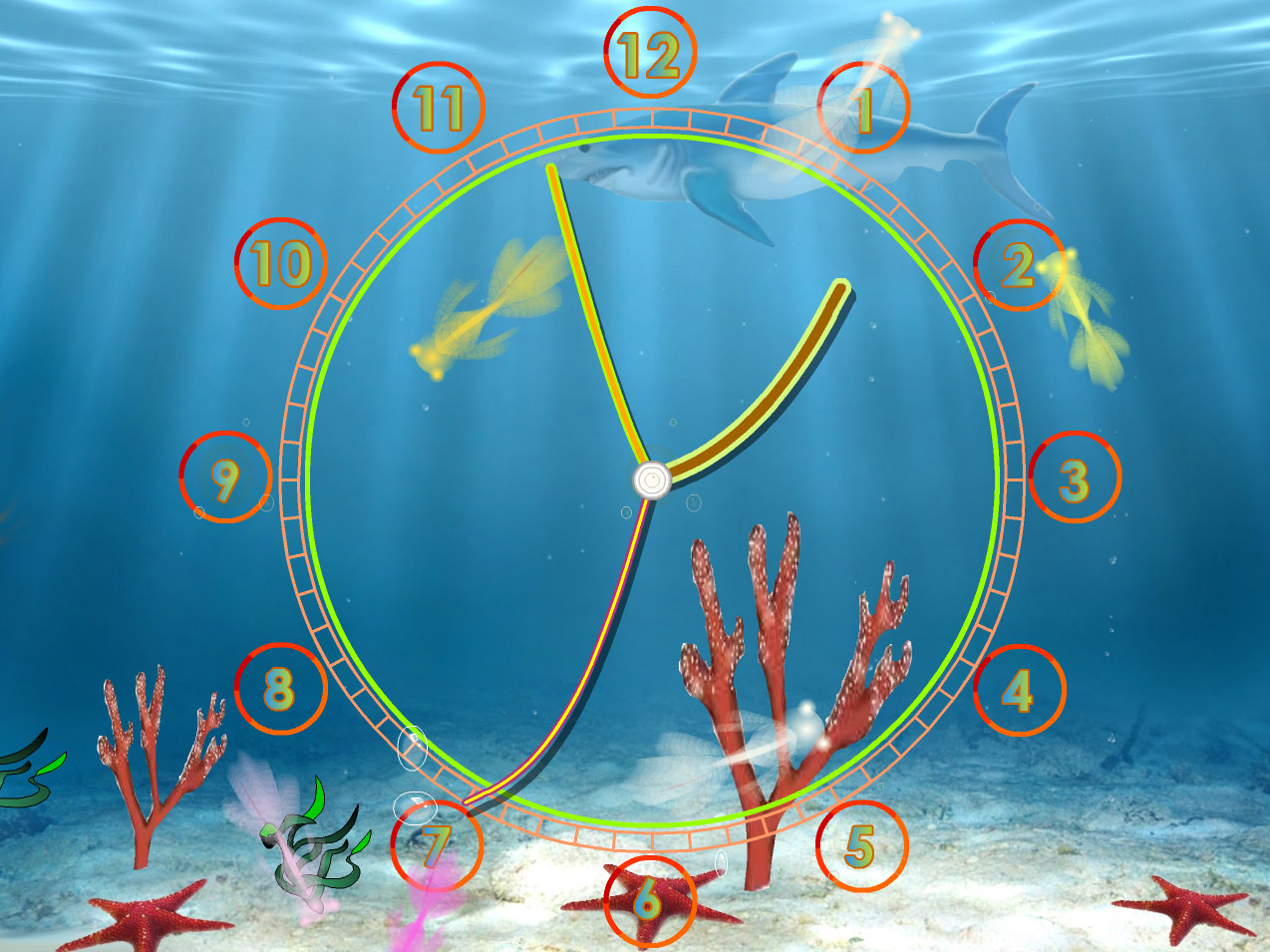 Aquarium Clock screensaver: even aquarium fishes want to know the ...