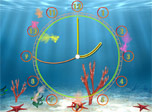 Aquarium Clock screensaver: even aquarium fishes want to know the current time!