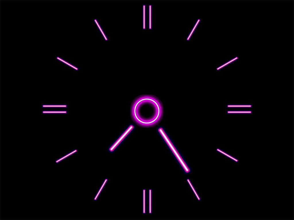 http://www.clock-desktop.com/screens/brilliant_clock/pink-neon-clock.jpg
