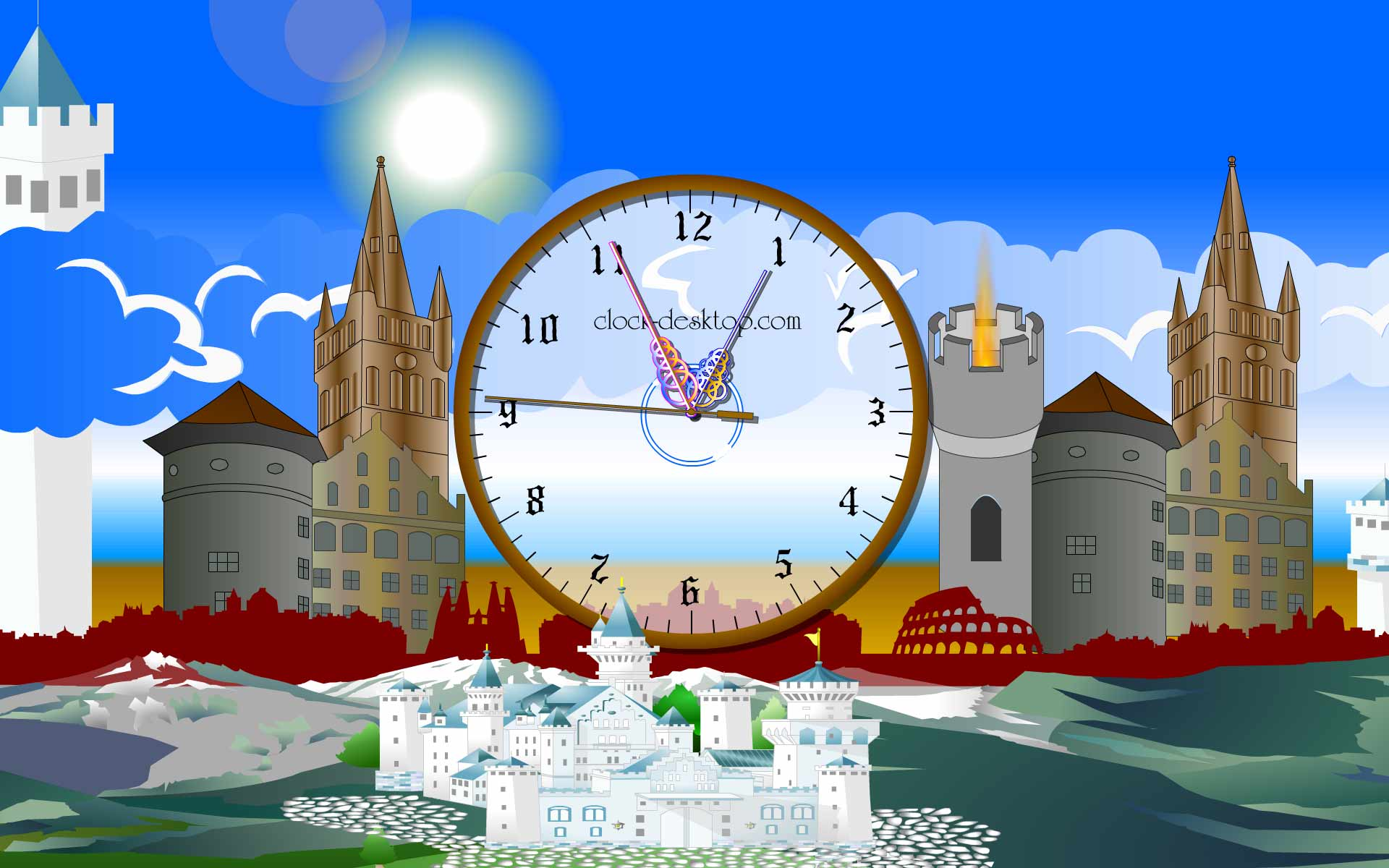 Castle Clock ScreenSaver 2.8