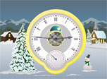 Christmas Clock screensaver: smooth over the expectation of a big holiday!