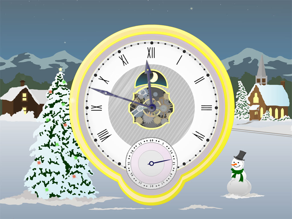 Christmas Clock screensaver 2010