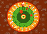Christmas walk-around Clock - true christmas spirits at your desktop!