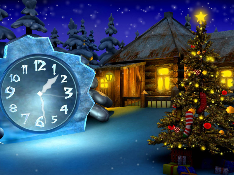 Cosy Christmas Clock Screenshots