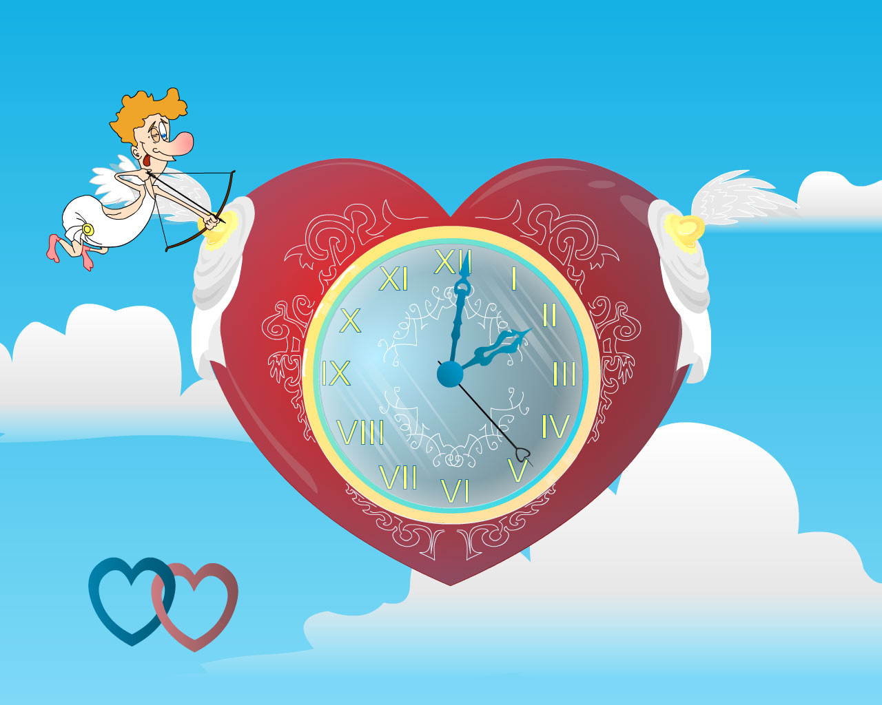 Cupid Clock screensaver 2.4