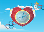 Cupid Clock screensaver: fill the world with love!