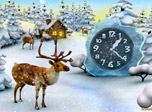 Deer are symbols of gifts coming on time for all to be pleased at Christmas. This clock helps you feel the magic of coming major holiday time. Deep into the peaceful setting with the unique charm of Christmas buried in the heart of the true forest.