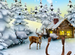 7art Deer Christmas Clock screensaver - feel the magic of the coming major holiday time!