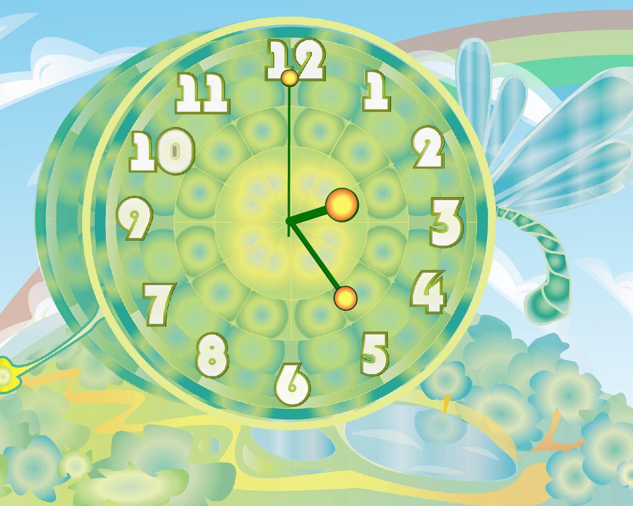 Dragon-fly Clock ScreenSaver