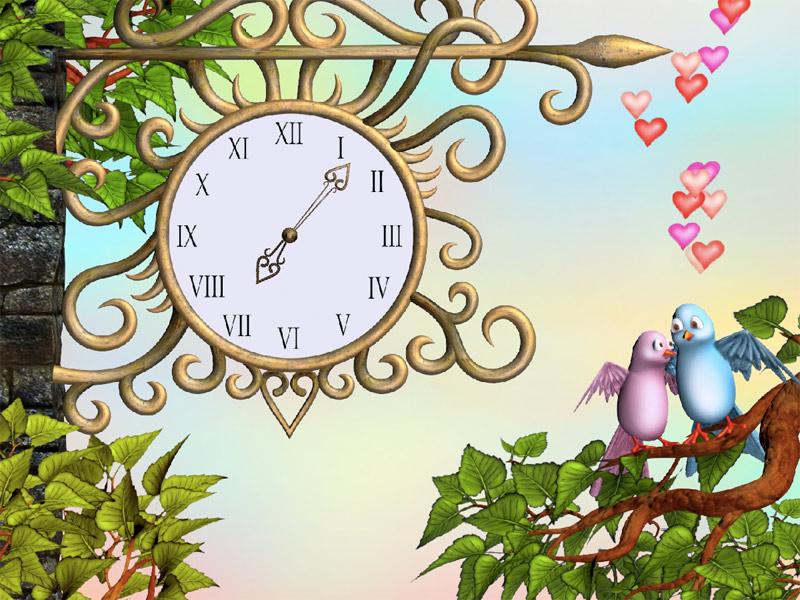 7art Eternal Love Clock Screensaver