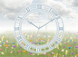 7art Everlasting Flowering Clock screensaver - Float into the world full of featheriness!