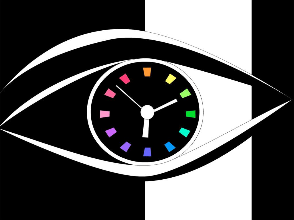 Eye Clock screensaver