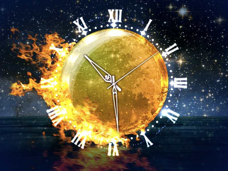 Warm your feelings with Fire Element Clock!