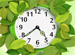 7art Foliage Clock screensaver - The mighty ocean of ripe foliage welcomes you!