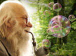 Present time Gandalf is blowing bubbles of wisdom and telling us stories of eternal time. He is here with you to remind about desired intimacy with Nature and many chances to dream up your reality and unfold unlimited imagination and serene existence.