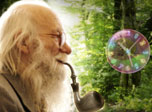 7art Gandalf Bubble Clock - Bubbles of wisdom and Gandalf stories of eternal time to unfold your imagination!