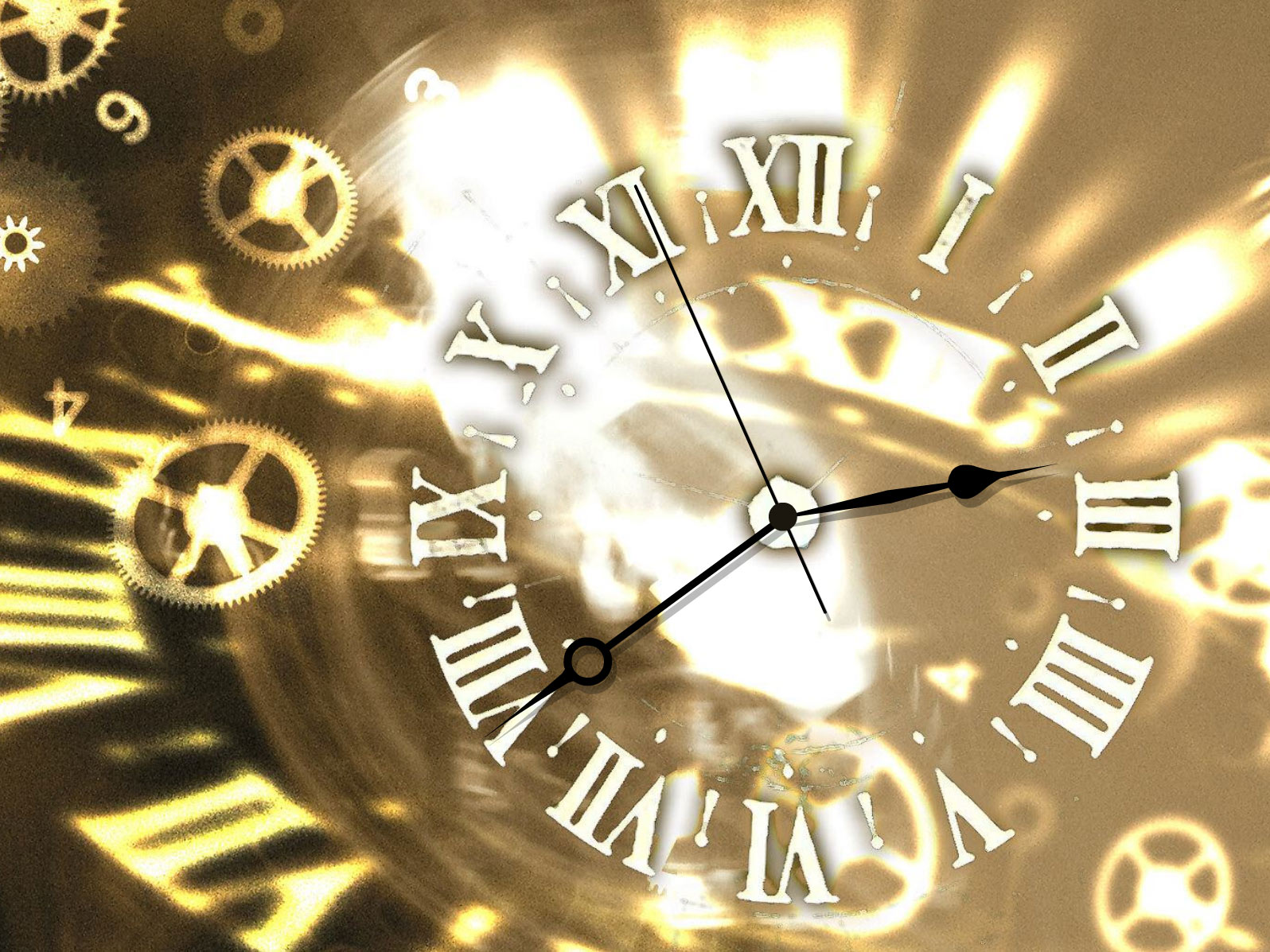 Let your hours with this gold clock screensaver be golden too!