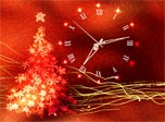 Gold Glow Christmas Clock