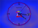 Liquid Clock: precious seconds flow with soft graceful river of time in Liquid Clock.