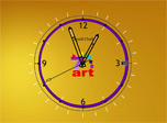 Liquid Gold Clock: precious seconds flow with soft graceful river of time.