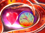 Love Dance Clock screensaver - miraculous gift to fill your PC with presence of Love!