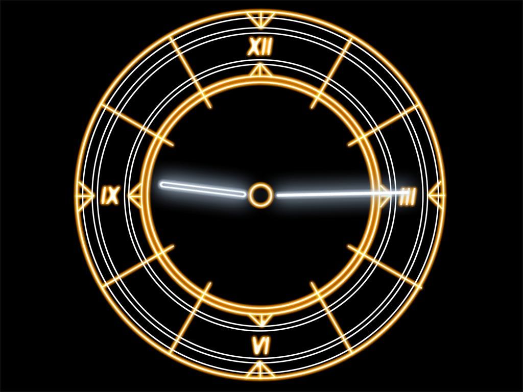 Luminescent Clock Screensaver Cool Radiant Futuristic