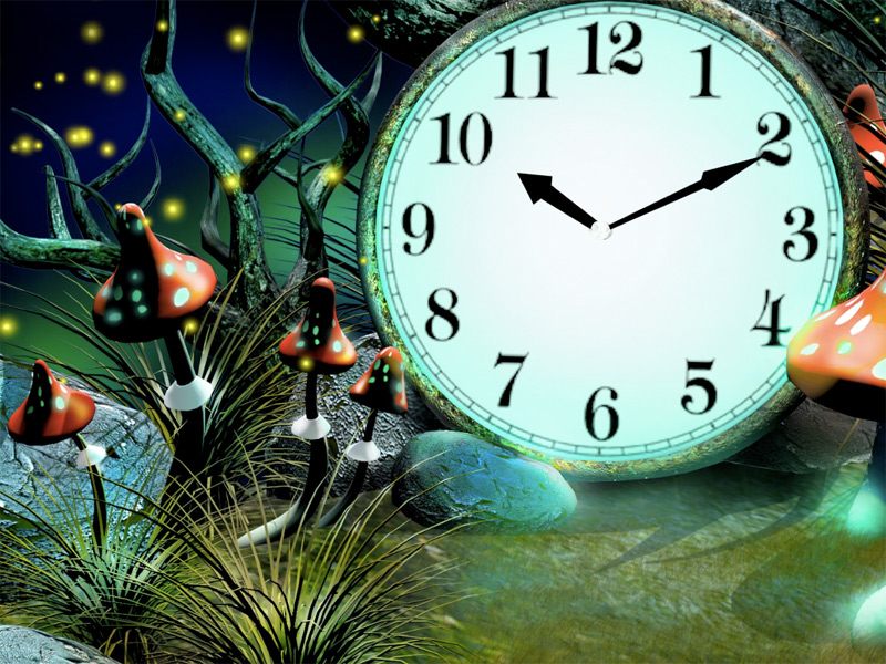 Calendar And Clock Wallpaper Free Download : Art magic forest clock screensaver enter the and know its mysteries