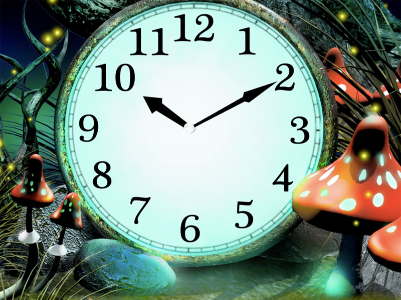 Screenshot of Magic Forest Clock screensaver