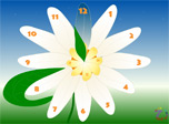 Merry Flower Clock screensaver shows time in a funny uncommon way to cheer your moods!