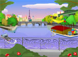 Oasis of ultra modern urban harmony for your pc screen! Fluffy clouds in violet sky, calming river, moving boats, flying pigeons surrounded by colorful balloons, red roses and green trees. Feel atmosphere of the holiday right here and now!