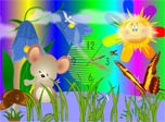 Mouse Clock screensaver: little Mouse and butterfly want to get you in the sky!