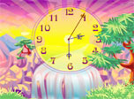 The warm tropical sun is going down the spilling rivers of gold down the waterfall. It has thrown peculiar shadows all around the palm trees. The air is delicious and smells juicy. It even seems that the face of Oasis Clock is slowly getting tanned.