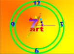Paint the River of Time in tender orange colors with free 7art Orange Clock Screensaver!