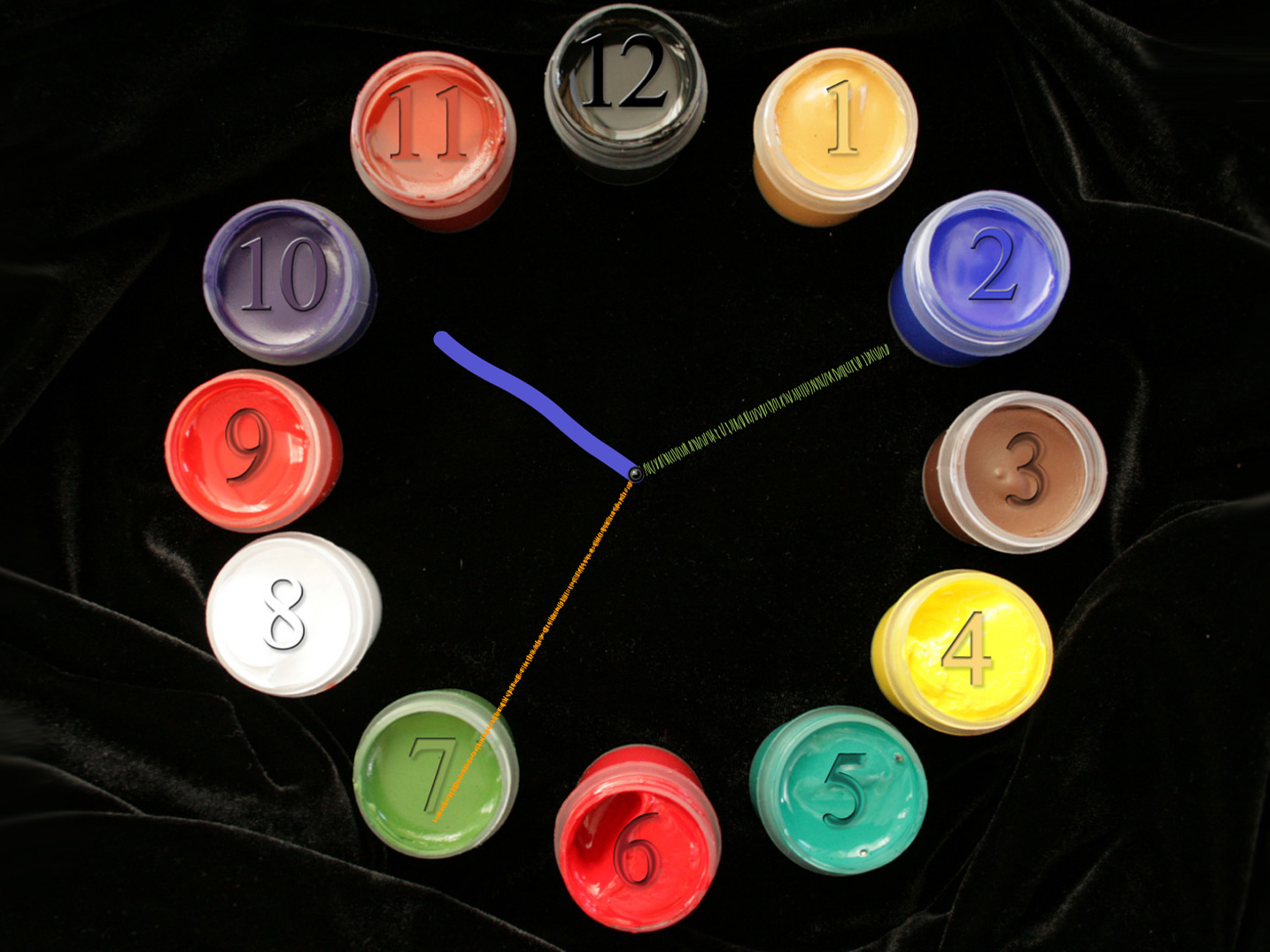 Paintbrush Clock screensaver