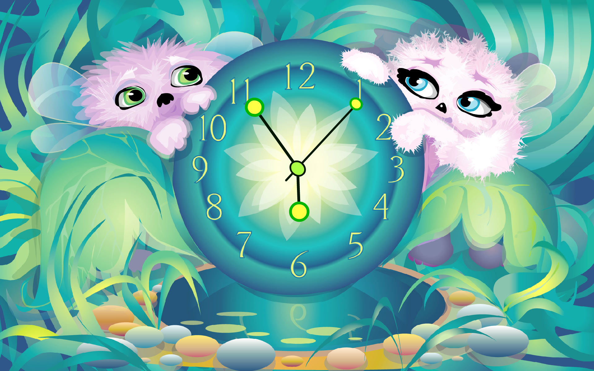 Alien Pet's Clock ScreenSaver