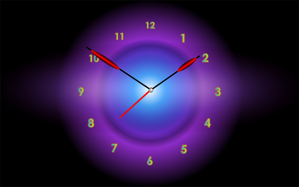 Radiant Clock will add a new wonderful color to a dull day each time it starts Screen Shot