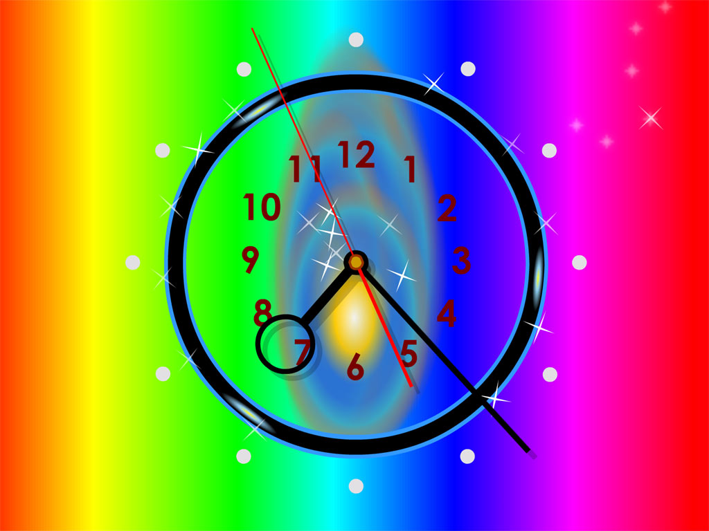 Rainbow Clock Live Animated Wallpaper