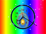 A screensaver-clock charging you with colorful emotions and positive energy
