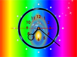 Rainbow Clock is a new screensaver, where a dance of colors and flows of joy gush upon you. Such an ambience has a relaxing effect on all users and helps them to be aware of current time at any moment. A worthy alternative to an ordinary clock.