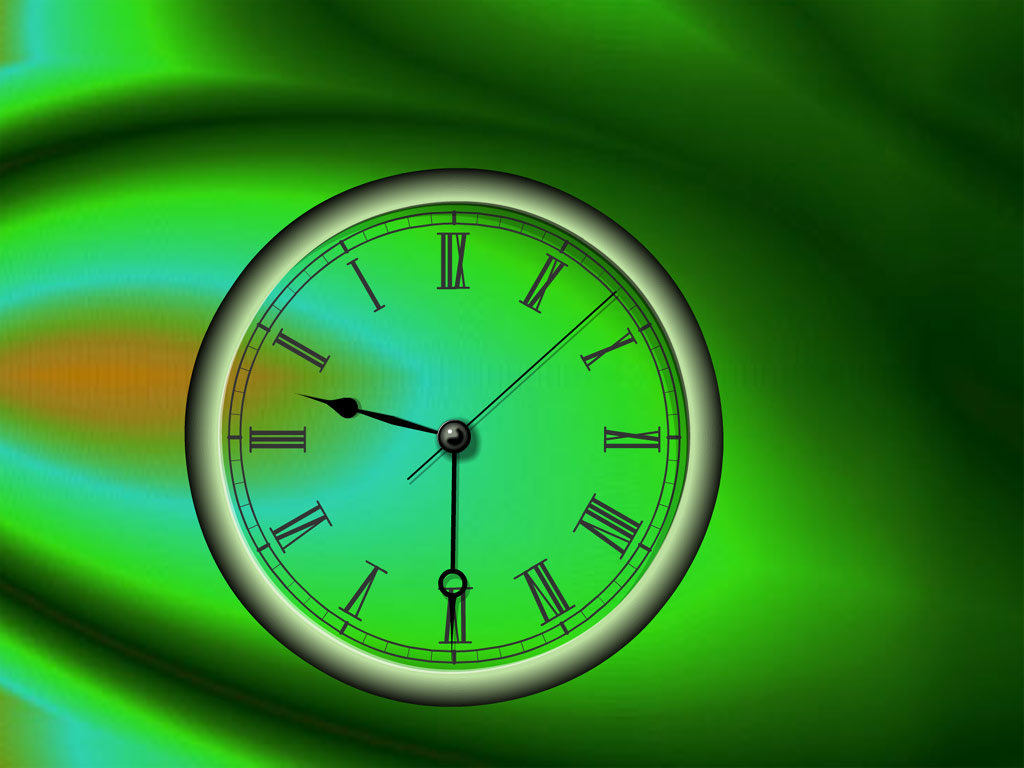 Reverse Clock screensaver