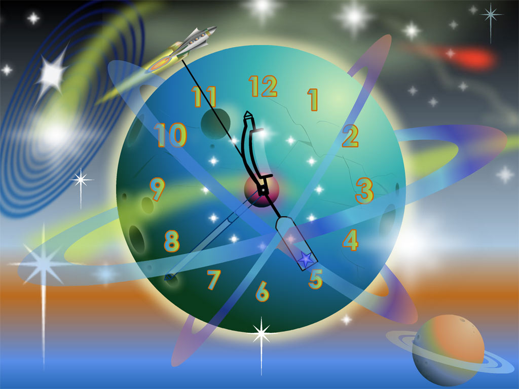 Can a spaceship and a clock be harmoniously combined? Yes! great Screen Shot
