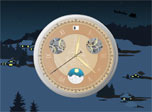 A fine, old-style mechanical clock and the scenic night background on your desktop show how much time is left for the old-man Santa to come for a flying visit. Brighten up with pleasure, imagining the presents that Santa has prepared for you.