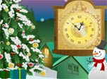 Snow Clock is a stylish decoration for the coming Christmas.