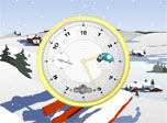 Snowy Clock screensaver: immerse into the atmosphere of imperturbable serenity!