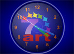 7art Standard Clock is a nice start to use your desktop as a major time machine. You will always know the exact time and will always make your friends to ask where have you found such a beautiful clock screensaver. So your spirits will definitely rise when you help them to get their own desktop clock from the large collection of free 7art Clock screen savers.