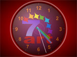 Use your desktop as a major time machine with free 7art Standard Clock screen saver!