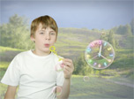 7art Sunny Bubbles Clock screensaver - Follow the easy go of joyful sunny bubbles!