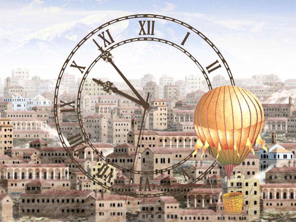 Town Clock screensaver