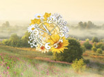 Misty Valley Clock - Find yourself sitting in the flower valley!
