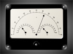 Have fun while being able to know exact time with Voltmeter Clock screensaver!
